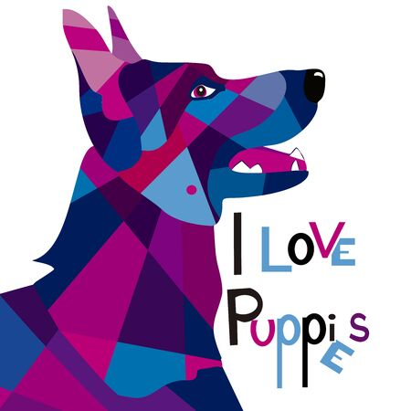 i love dogs 스톡 콘텐츠 - 134483825