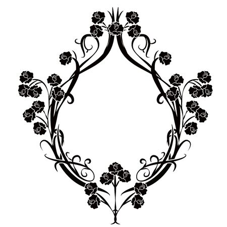 graphic element flourishes flowers vintage 4 일러스트
