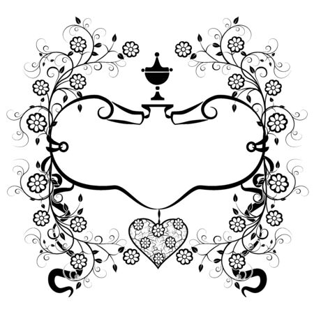 design element frame vintage flourishes