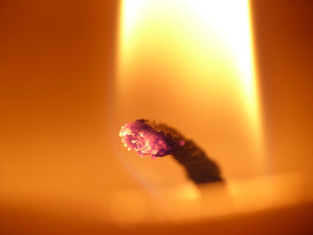 cordially: candlelight - fire and flame, macro of a tea light