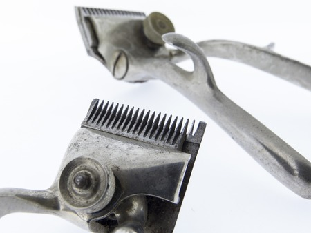 clippers: old hair clippers, rustic scissors hairdressing tool