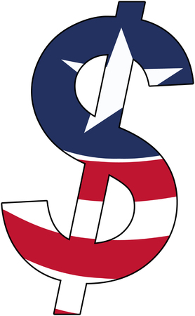 dollar with flag of Liberia, currency, valuta, anchor currency