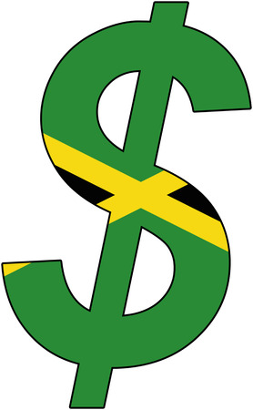 dollar with flag of jamaica, currency, valuta, anchor currency