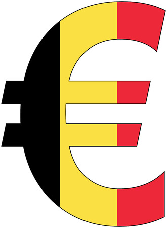 valuta: Euro - with flag of belgium, currency, valuta, anchor currency
