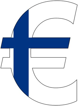 valuta: Euro - with flag of finland, currency, valuta, anchor currency