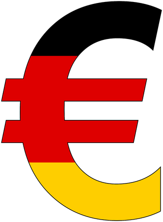 valuta: Euro - with flag of germany, currency, valuta, anchor currency