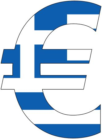valuta: Euro - with flag of greece, currency, valuta, anchor currency
