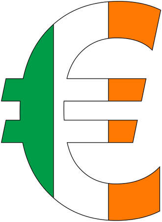 Euro - with flag of ireland, currency, valuta, anchor currency