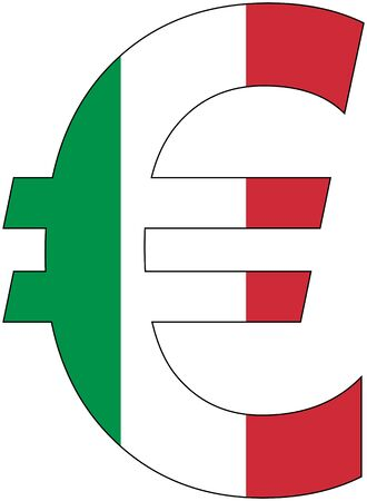valuta: Euro - with flag of italy, currency, valuta, anchor currency