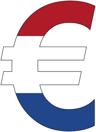 アンカー通貨サービス、通貨オランダの旗が付いているユーロ 写真素材 - 49279557