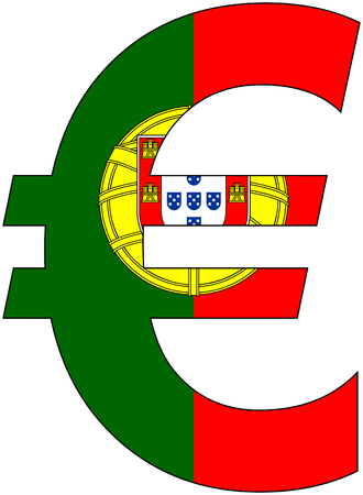 valuta: euro with flag of portugal, currency, valuta, anchor currency