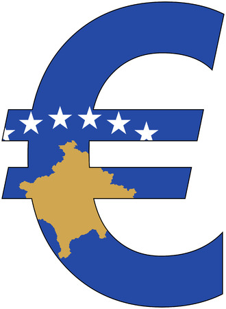 valuta: euro with flag of kosovo, currency, valuta, anchor currency