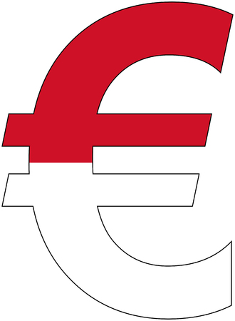 valuta: euro with flag of Monaco, currency, valuta, anchor currency