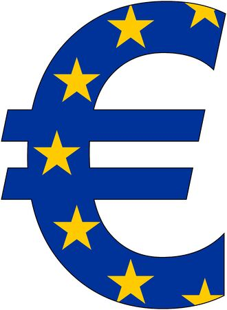 valuta: euro with flag of europe, currency, valuta, anchor currency