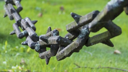an old iron chain - chain links from the Middle Ages - abstract Banque d'images