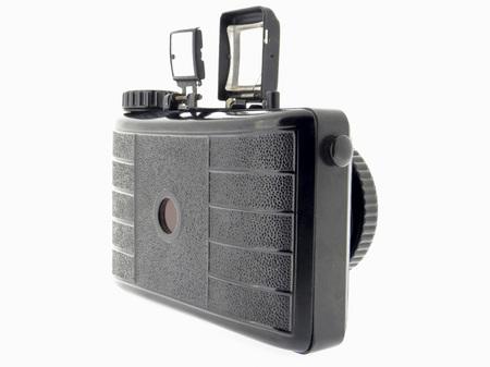 白い背景を持つアナログ カメラ