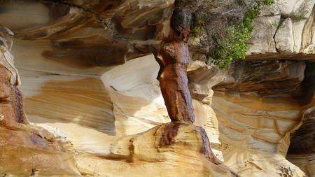 intoxicate: Cliff, rock layers, abstract shapes, Coast of Australia, earth formations Stock Photo