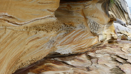 rock layers: Cliff, rock layers, abstract shapes, Coast of Australia, earth formations Stock Photo