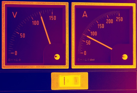 voltages: measuring instruments Stock Photo