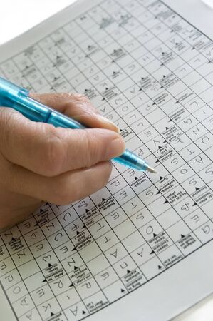 brainteaser: crossword Stock Photo