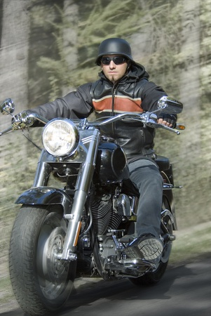 motorcycle rider: motorcycle