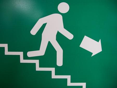 fire escape: exit Stock Photo