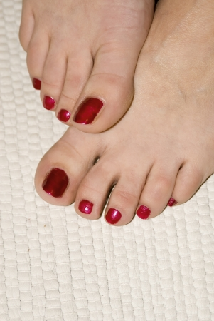 painted toes: woman foot Stock Photo