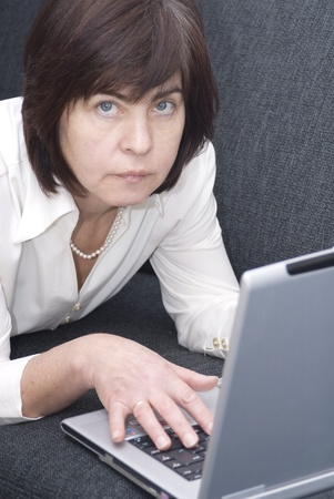 woman at laptop Stock Photo - 10889897