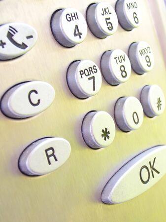 keys of a public phone