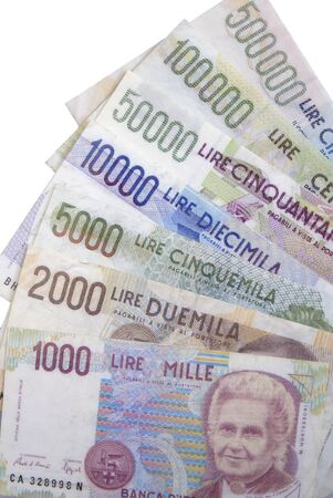worthless: lire banknotes