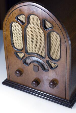 regulators: old radio Stock Photo