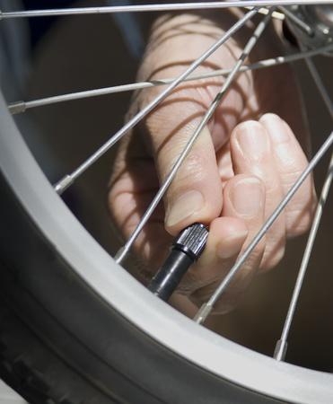pneu: valve Stock Photo