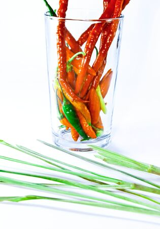 complement: cayenne pepper on glass
