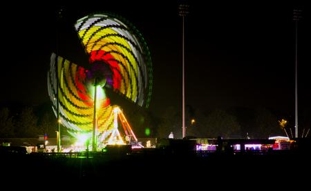 Artificial rainbow  Kempton Park - Fireworks Show  Guy Fawkes Night