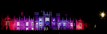 Hampton Court Palace by night Editorial