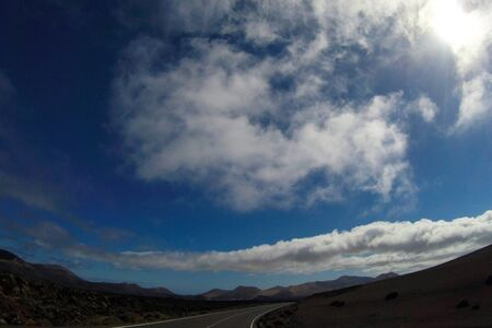 Road to nowhere in Lanzarote