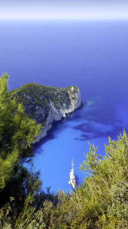 ionian: Ship wreck bay - Zakynthos  Zante island, Greece Stock Photo
