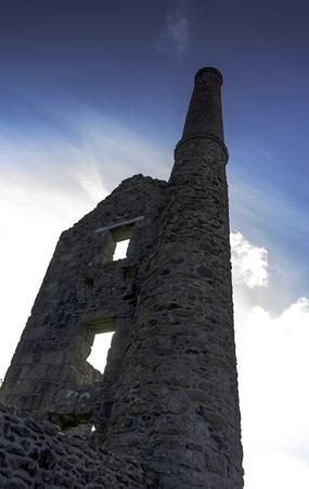 An old Cornish tin mine near Tredinnick, Cornwall, UK