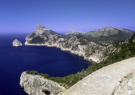 Mediterranean Sea - a view from Formentor - Majorca, Spain Stock Photo