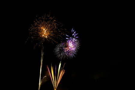 guy fawkes night: Bonfire Night fireworks displays in London Archivio Fotografico