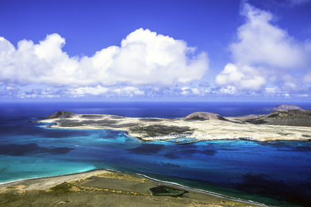 Volcanic Island La Graciosa - Lanzarote, Canary Islands, Spain Standard-Bild
