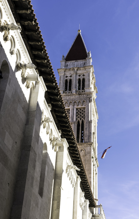 The Cathedral of St. Lawrence in historic city of Trogir, Croatia Stock Photo