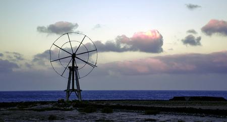 Traditional salt cultivation in Los Cocoteros, Guatiza, Lanzarote, Canary Islands, Spain Imagens