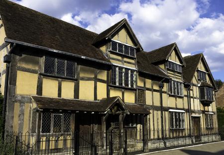 William Shakespeare's Birthplace - 16th-century half-timbered house - Henley Street, Stratford-upon-Avon, Warwickshire, United Kingdom