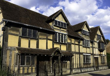 William Shakespeare's Birthplace - Maison à colombages du 16ème siècle - Henley Street, Stratford-upon-Avon, Warwickshire, Royaume-Uni