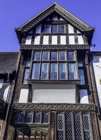 Vintage architecture of Stratford-upon-Avon, Warwickshire, United Kingdom Stock Photo