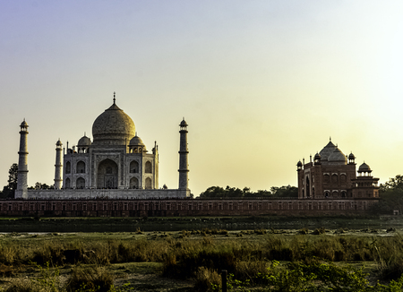 Taj Mahal in Agra, Uttar Pradesh, India 免版税图像