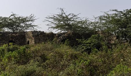 Abandoned ruins of Tughlaqabad Fort in New Delhi, India 写真素材