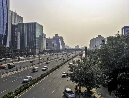Architecture of Cyber City (Cyberhub) in Gurgaon  Gurugram, New Delhi, India