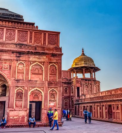 Shah Jahani Mahal palace in Agra Red Fort - Agra, Uttar Pradesh, India